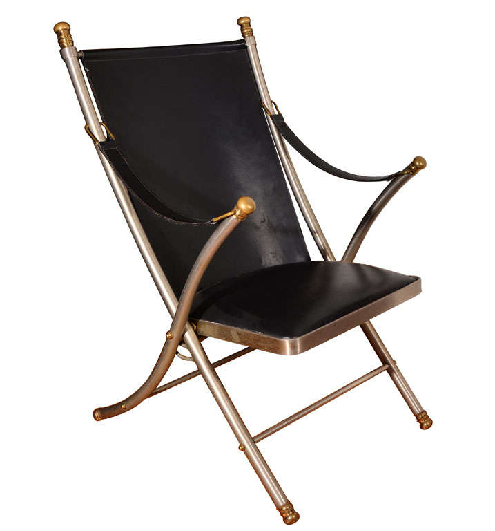 Maison Jansen Campaign Chair For Sale At 1stdibs