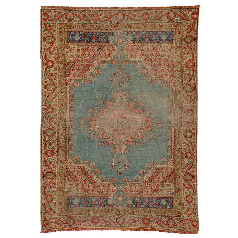 Antique Turkish kysari rug, early 20th century