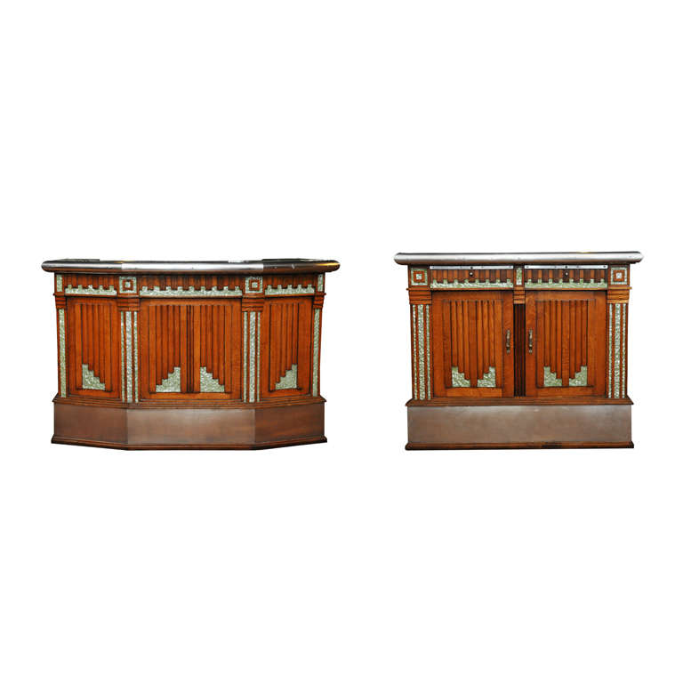 French Art Deco Wet Bar And Side Cabinet At 1stdibs
