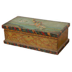 Hand Painted Small Trunk