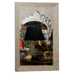Vintage Bone Inlaid Mirror