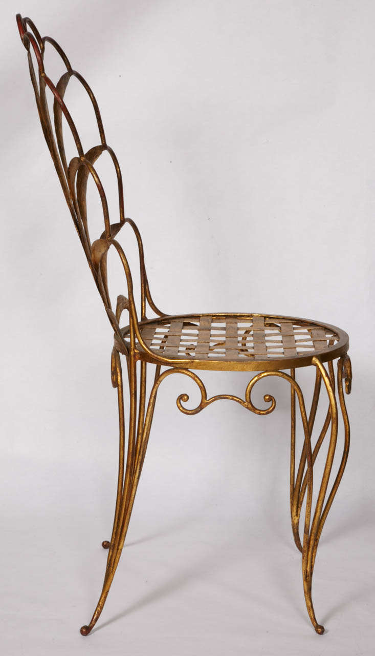 Iron Pair of Chairs by René Drouet For Sale