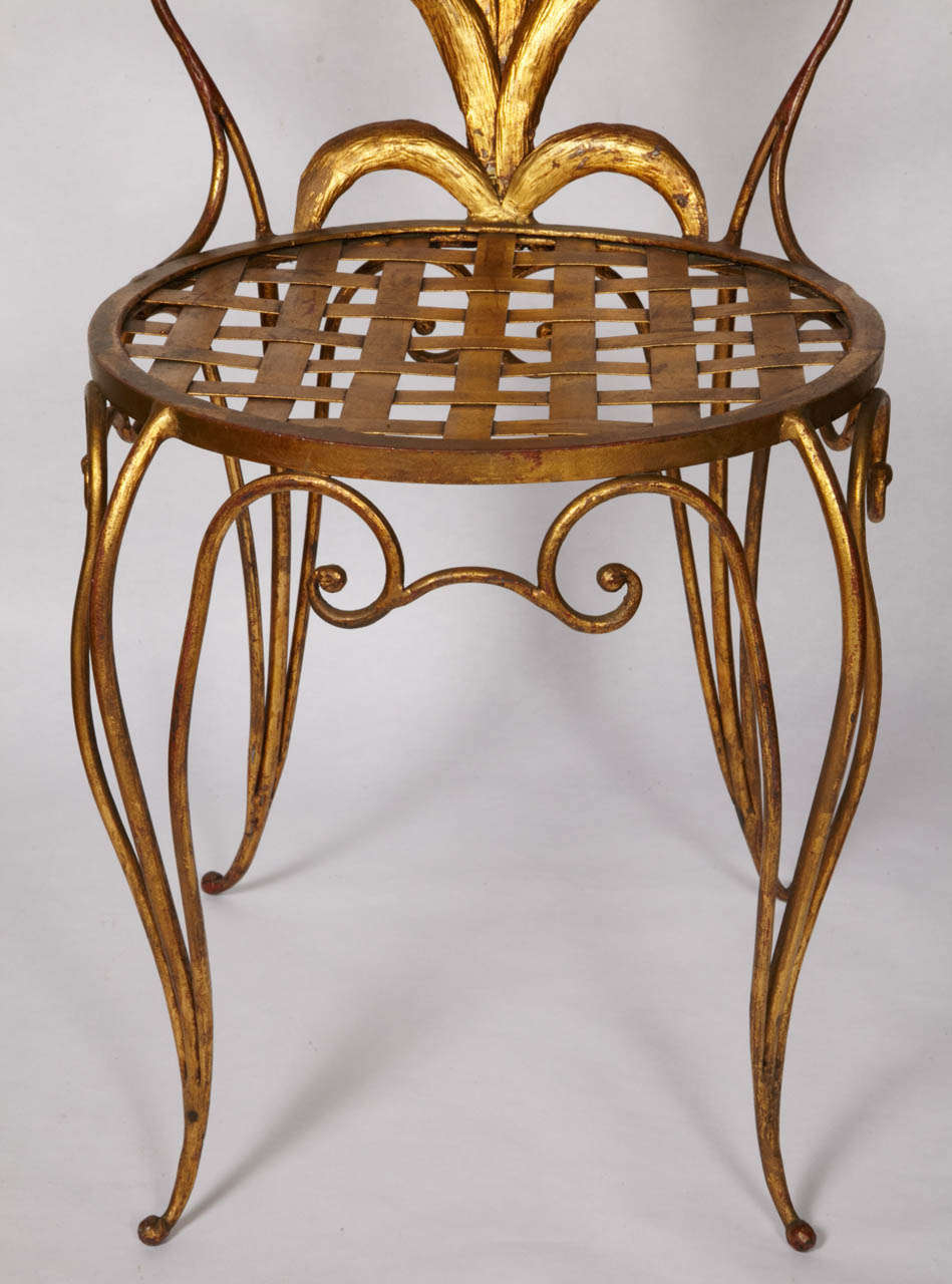Pair of Chairs by René Drouet For Sale 3