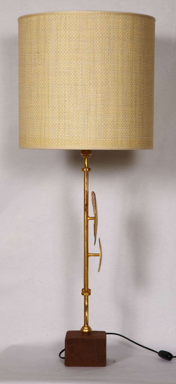 Late 20th Century Pair Of Brutalist Table Lamps