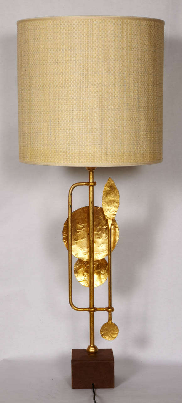 Wrought Iron Pair Of Brutalist Table Lamps