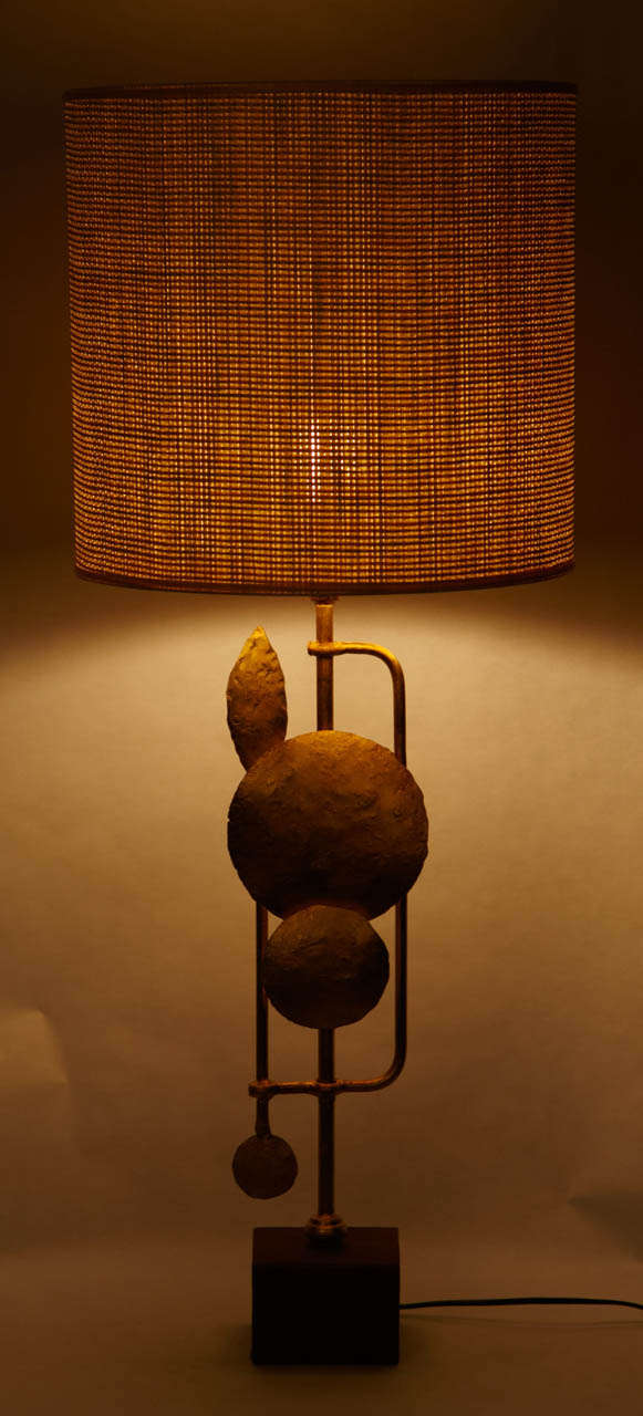 Pair Of Brutalist Table Lamps 2