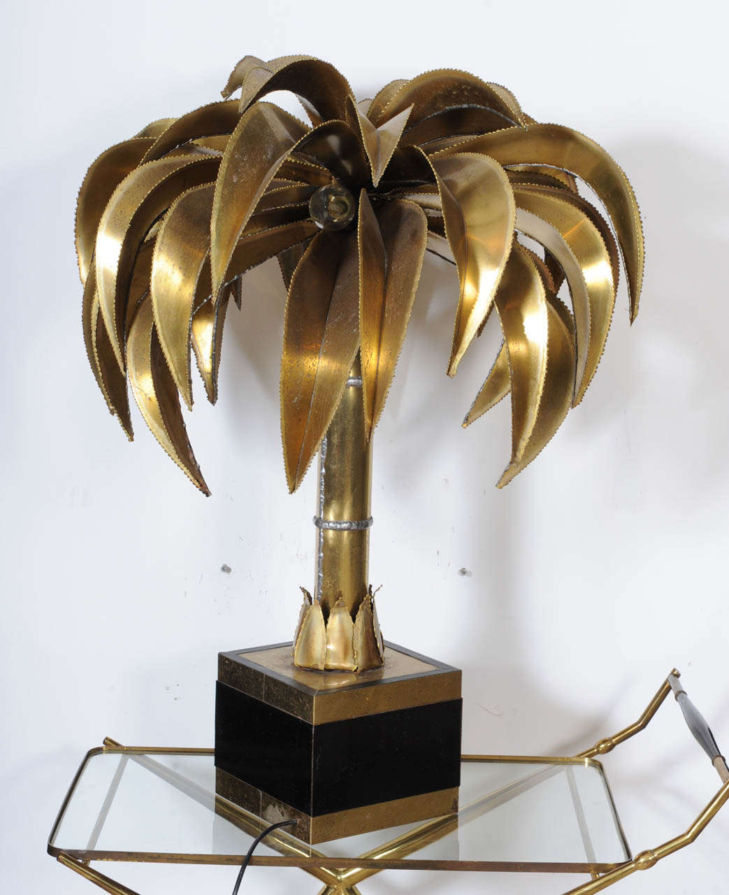 A Vintage 1950 S Palmtree Table Or Floor Lamp By Maison Jansen At 1stdibs