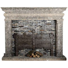 Polished Cast And Wrought Iron Victorian Fireplace