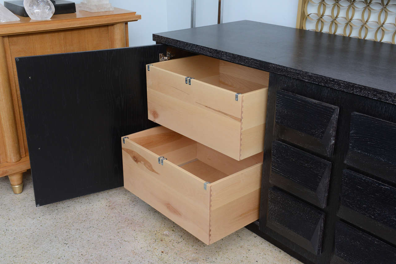 Monumental Ebonized Four-Door Credenza Buffet by Jamie Herzlinger In Excellent Condition For Sale In Miami, FL