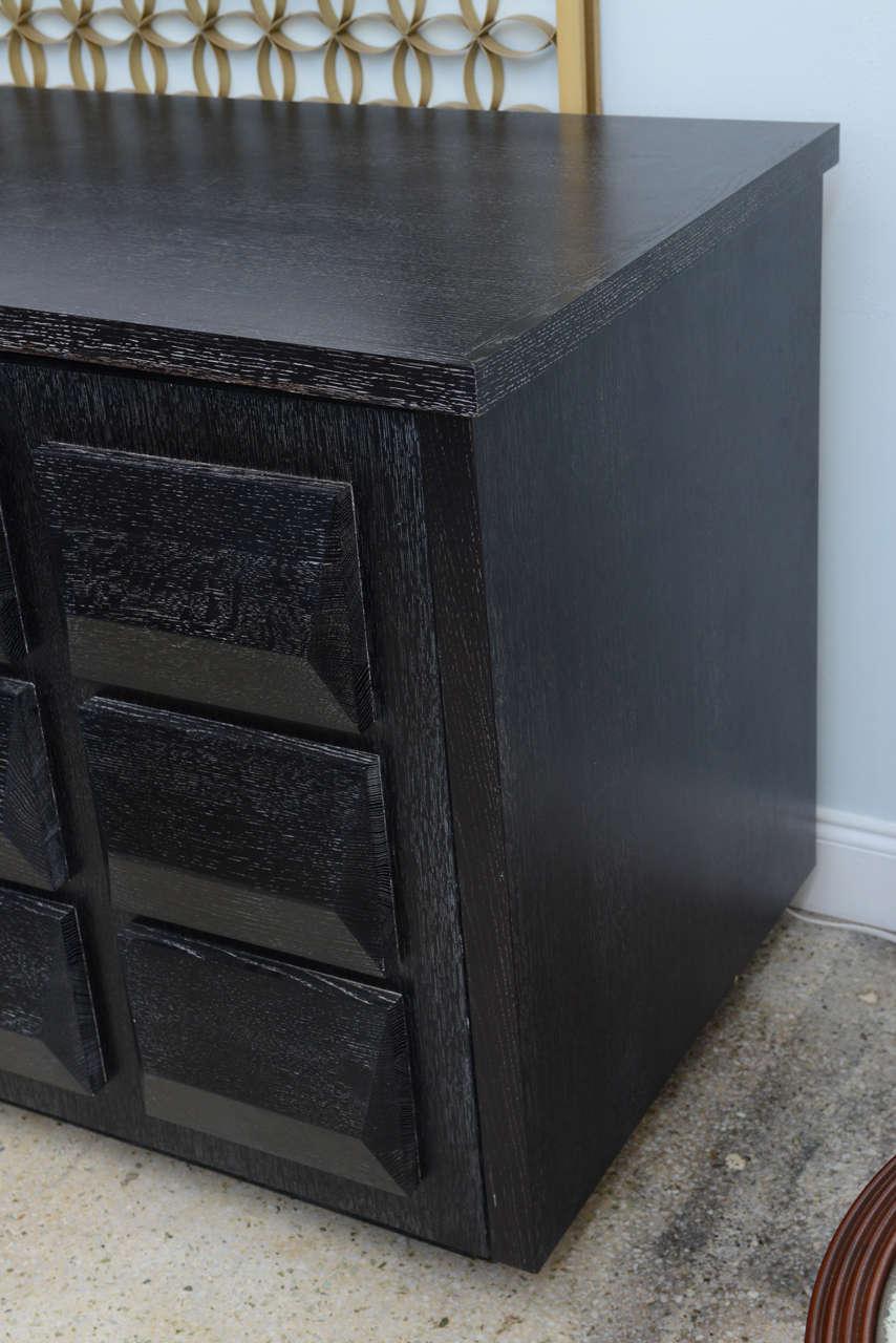 Monumental Ebonized Four-Door Credenza Buffet by Jamie Herzlinger For Sale 2