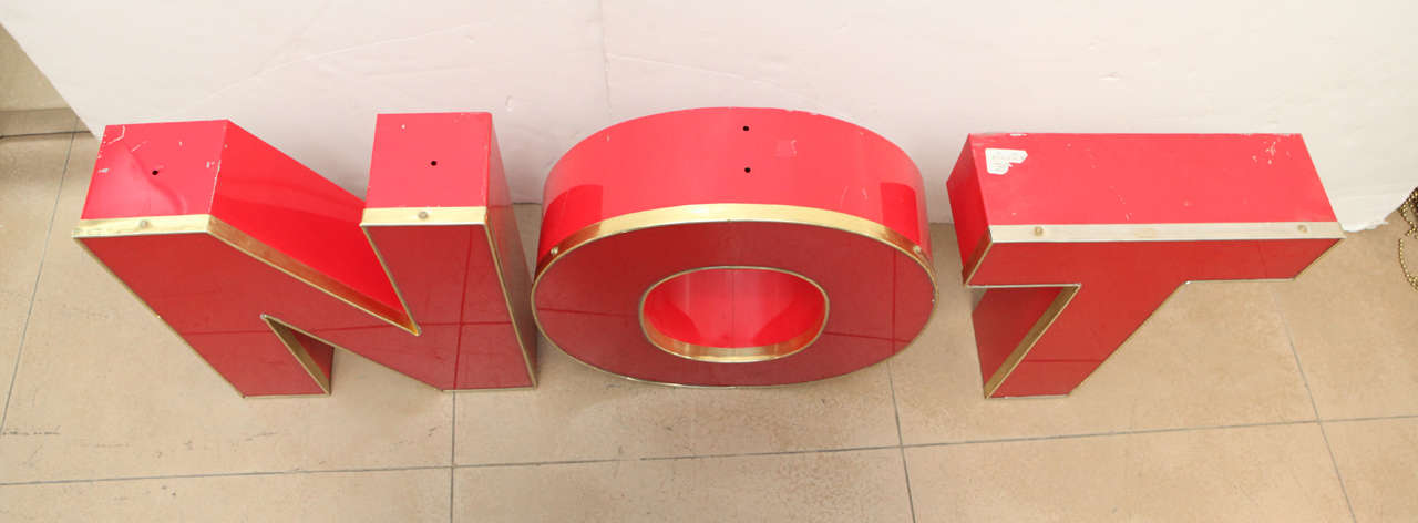 N o t metal letters for sale at 1stdibs for Furniture 6 letters