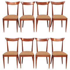 Set of Eight Italian Dining Chairs by Ico Parisi