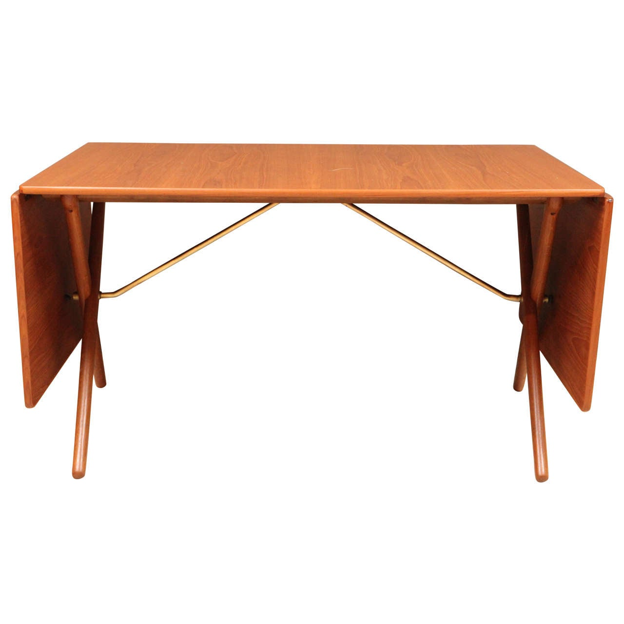 Hans wegner teak drop leaf dining table at 1stdibs for Drop leaf dining table
