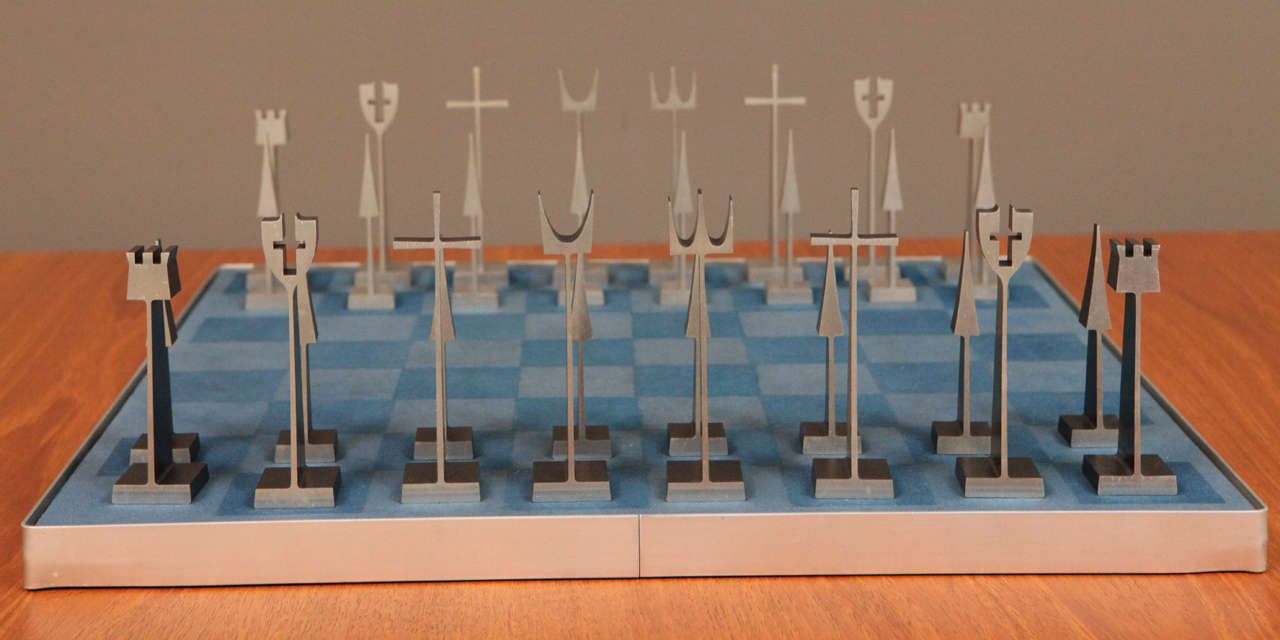 American Austin Enterprises Aluminum Chess Set and Board