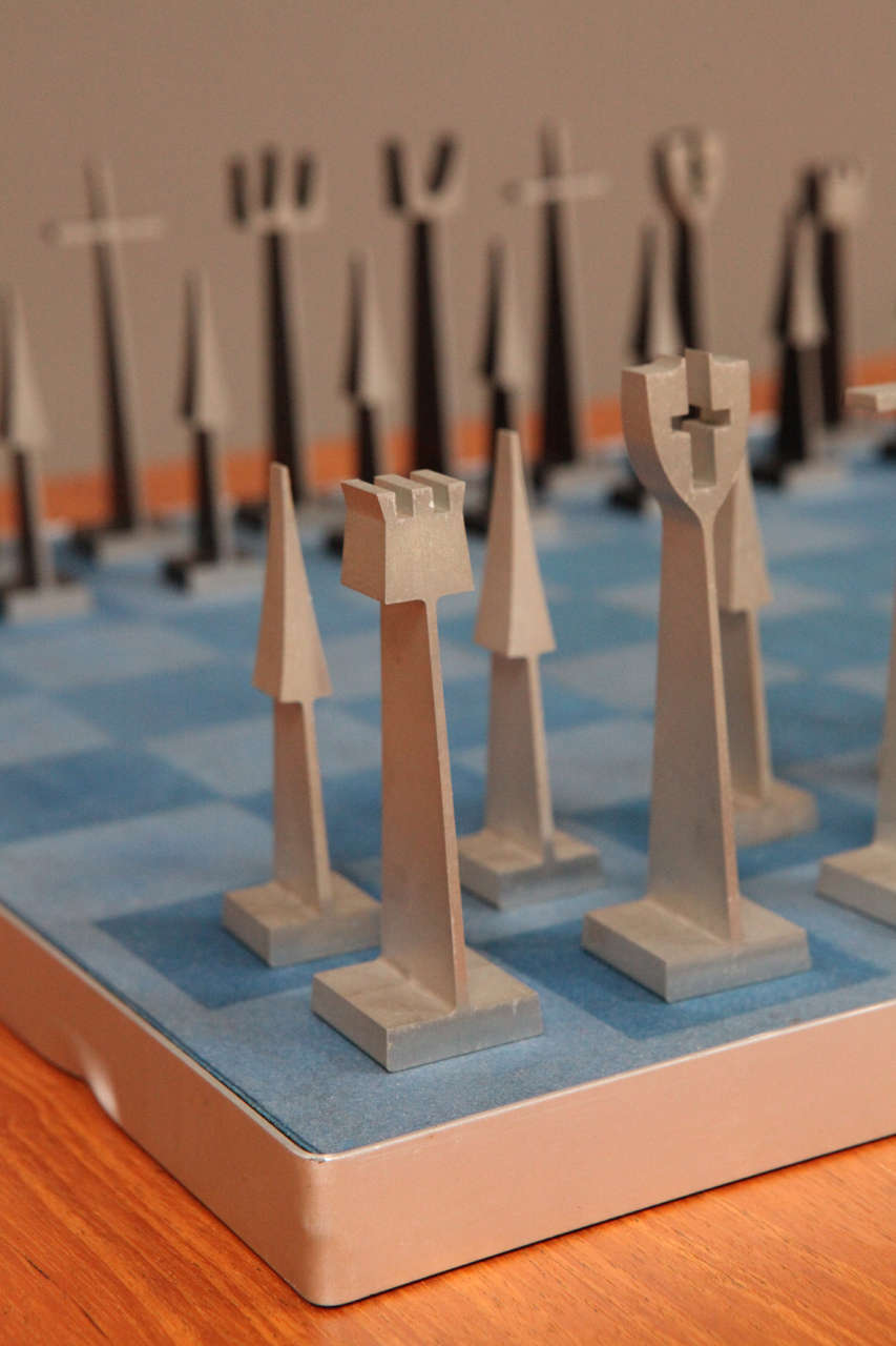 Austin Enterprises Aluminum Chess Set and Board 1