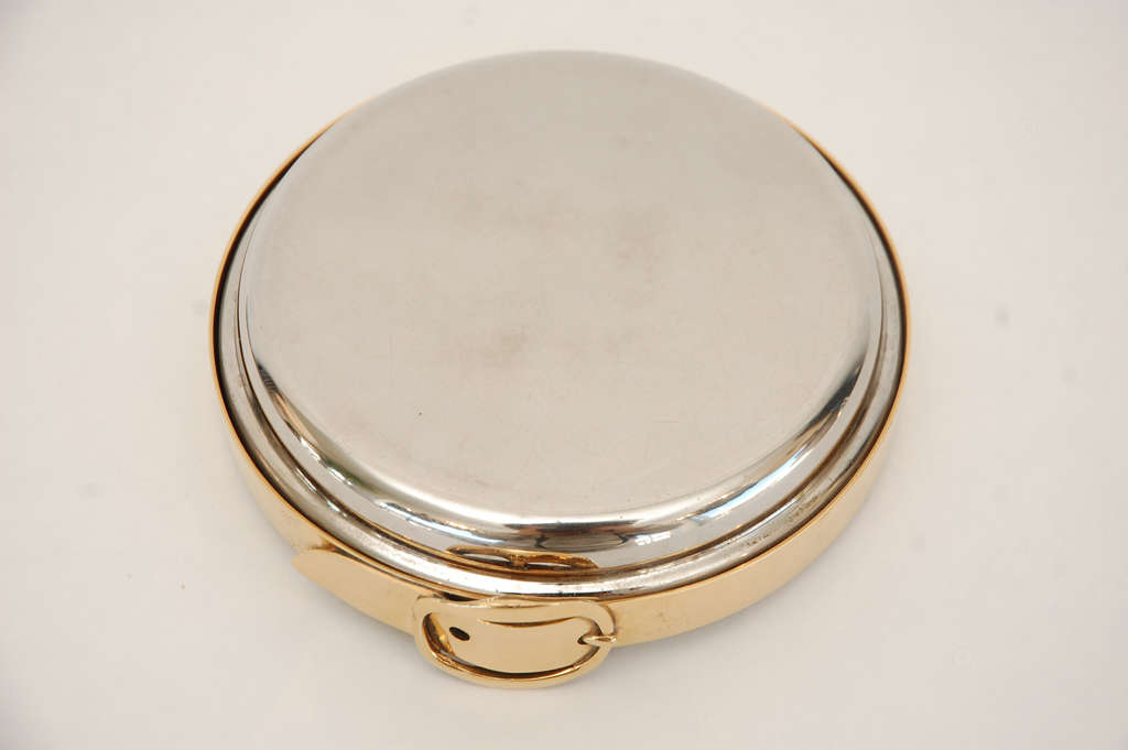 Nickel And Gold Plate Wine Coaster By Herm 232 S At 1stdibs