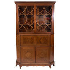 George Jack for Morris and co mahogany secretaire cabinet, England circa 1895