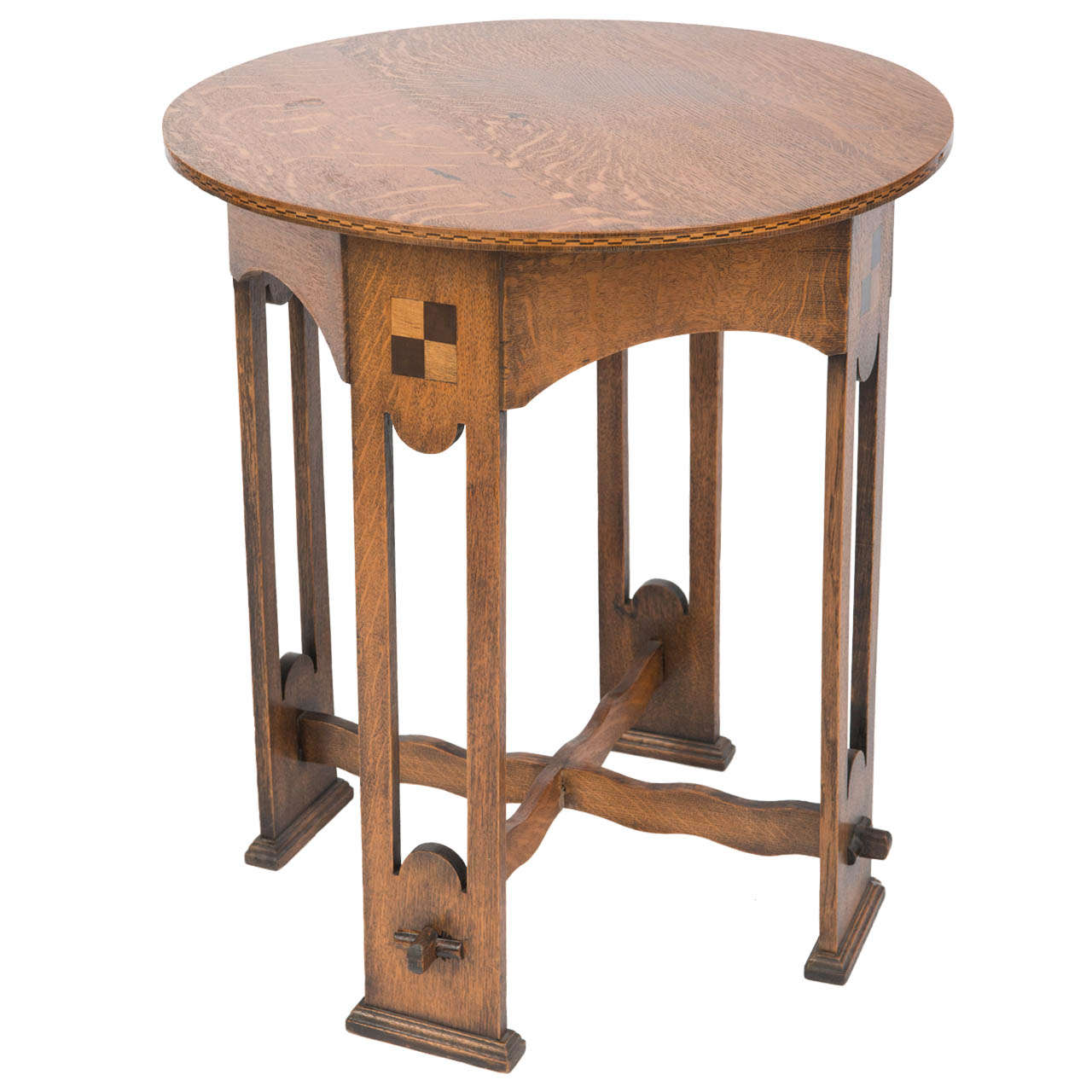 A lovely arts and crafts oak occasional table at 1stdibs for Arts and crafts style table