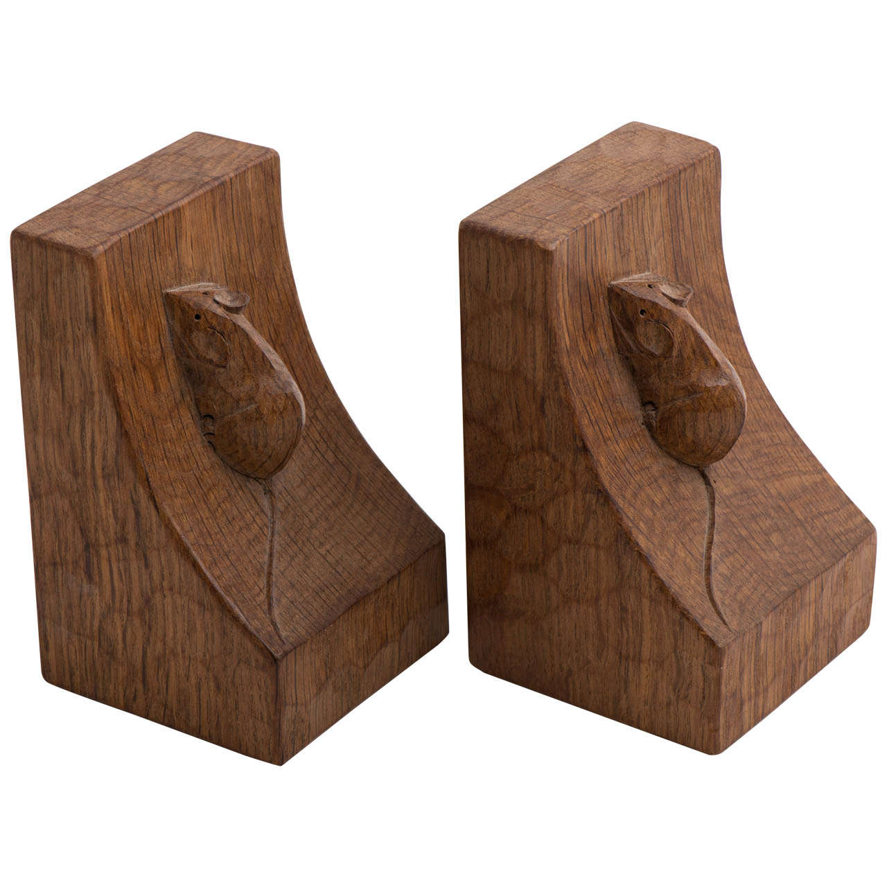 A Pair Of Robert Quot Mouseman Quot Thompson Bookends At 1stdibs