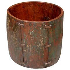 Cylindrical Antique Drum Vessel