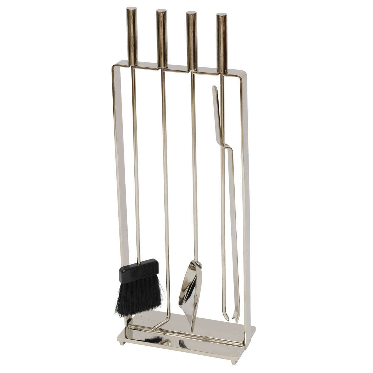 60 39 S Modernist Nickeled Fireplace Tool Set By Pilgrim At