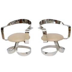 70's Chrome Ribbon Chairs