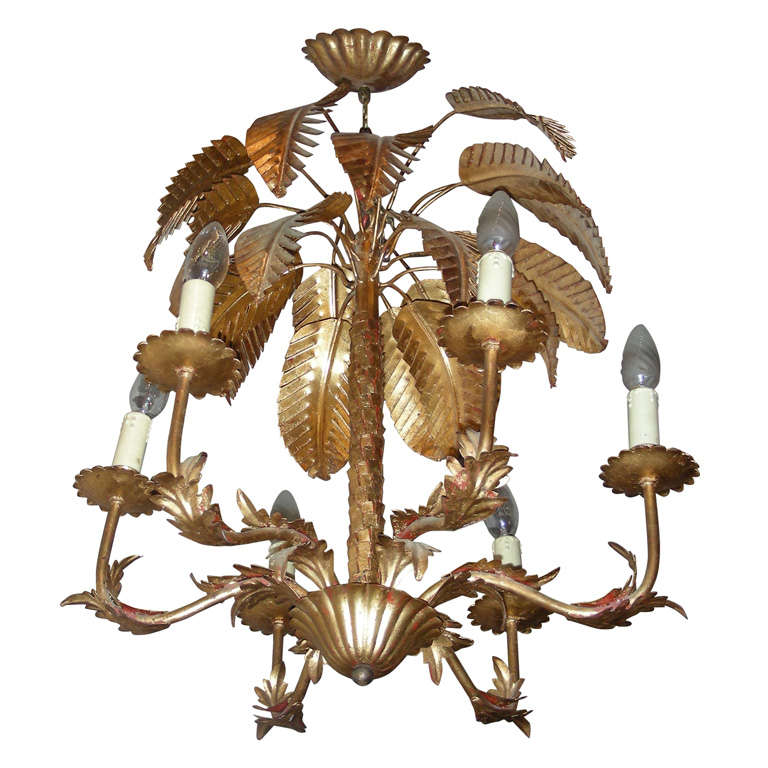 1950s Palm Tree Chandelier At 1stdibs