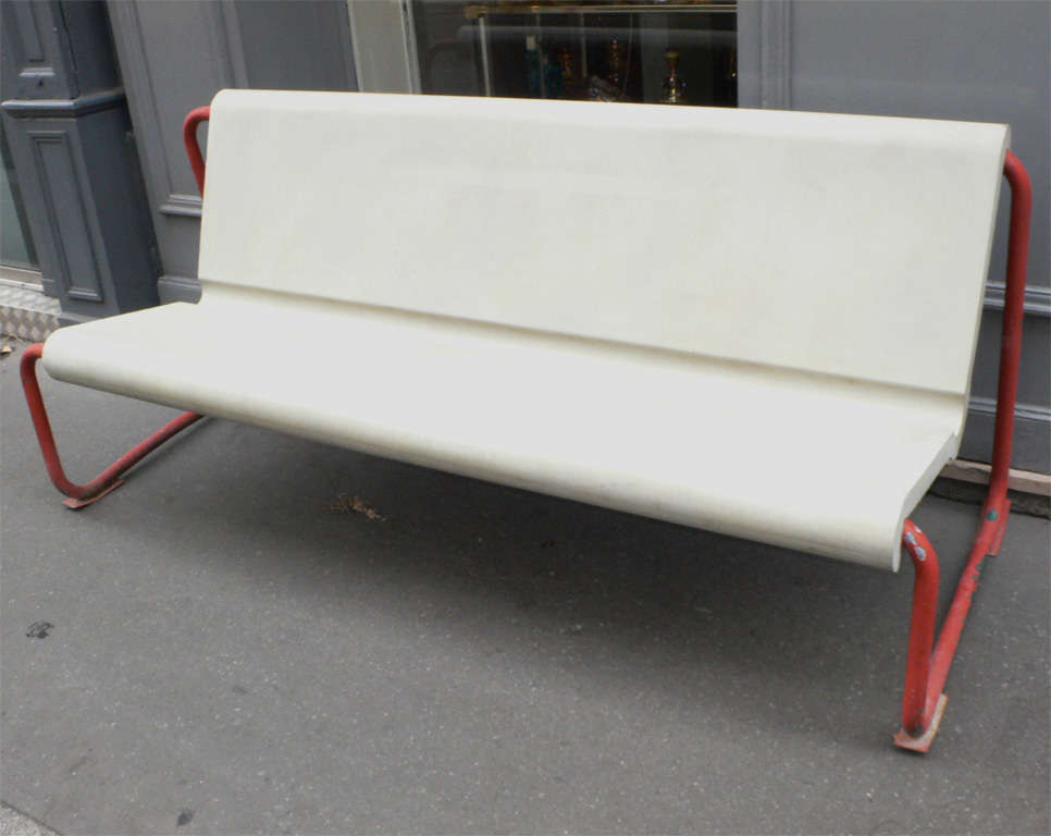 Two Rare 1950s Swiss Benches by Willy Gühl 2