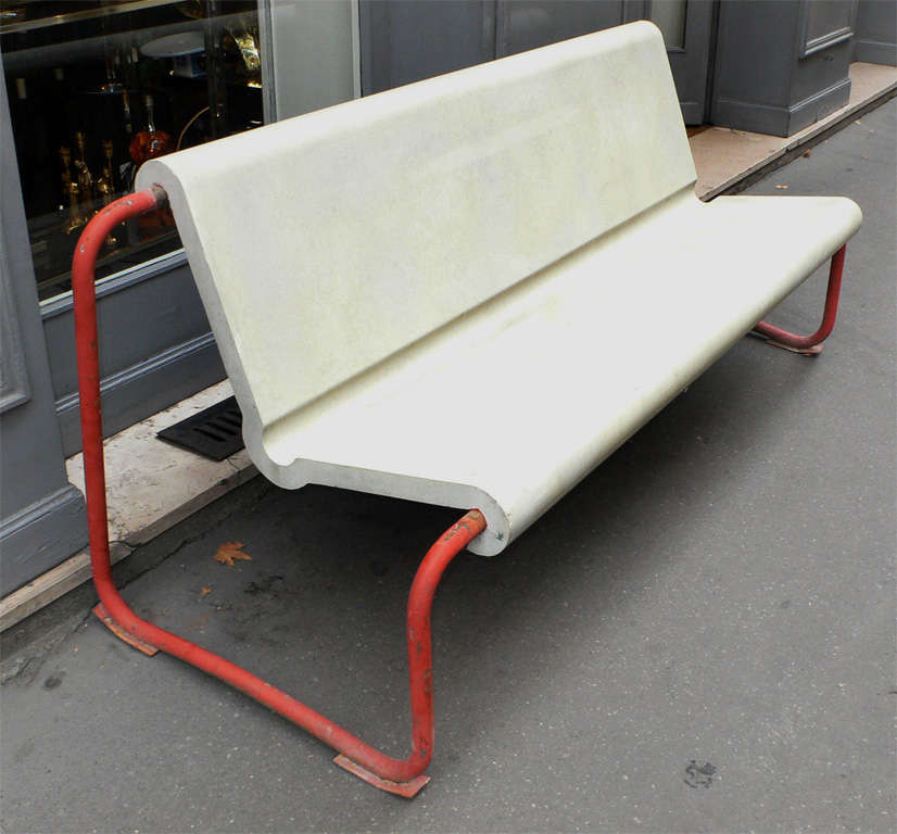 Two Rare 1950s Swiss Benches by Willy Gühl 3