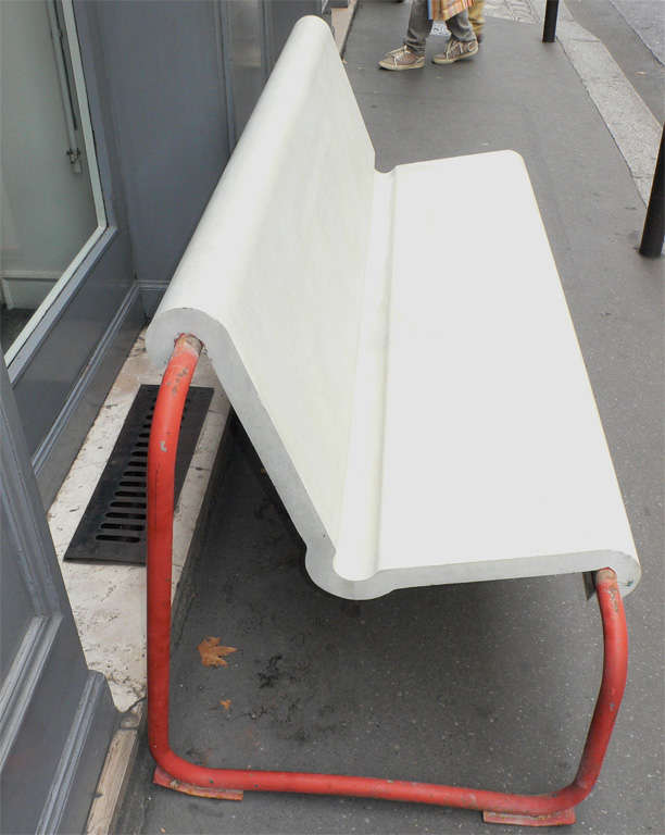 Two Rare 1950s Swiss Benches by Willy Gühl 4