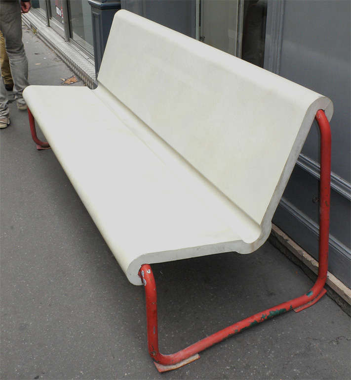 Two Rare 1950s Swiss Benches by Willy Gühl 5