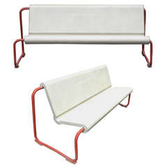 Two Rare 1950s Swiss Benches by Willy Gühl