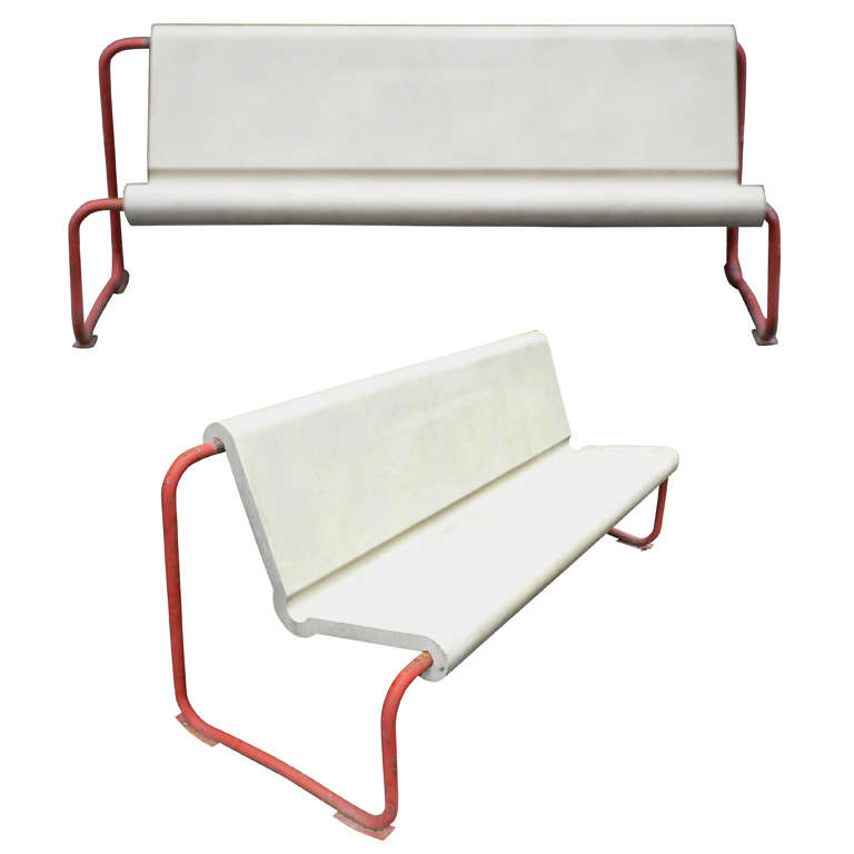 Two Rare 1950s Swiss Benches by Willy Gühl 1