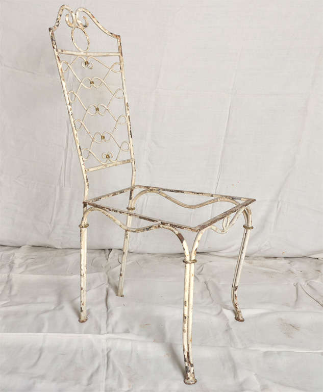 1940 s wrought iron dining room chairs at 1stdibs