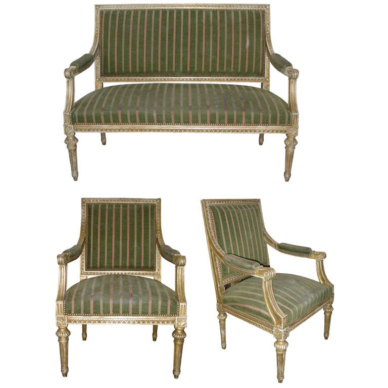 1940s Louis Xvi Style Living Room Suite At 1stdibs
