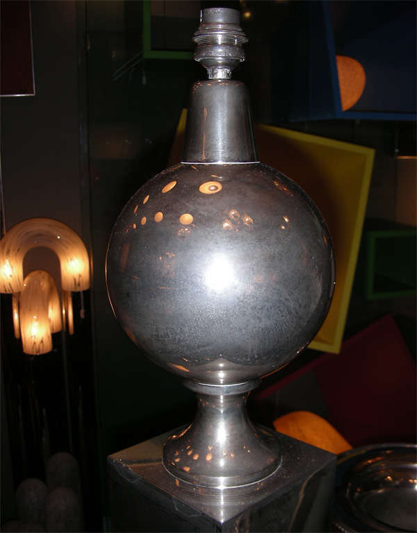 Steel 1970s Lamp by Maison Barbier For Sale