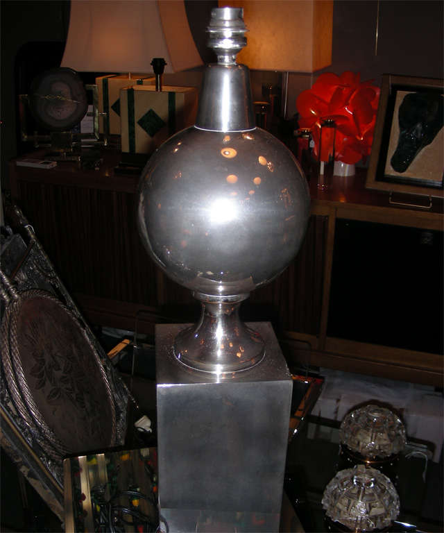 1970s Lamp by Maison Barbier For Sale 1