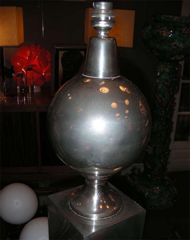 1970s Lamp by Maison Barbier For Sale 2