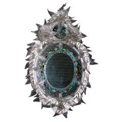 1880' Venetian Mirror Coming from Papal House