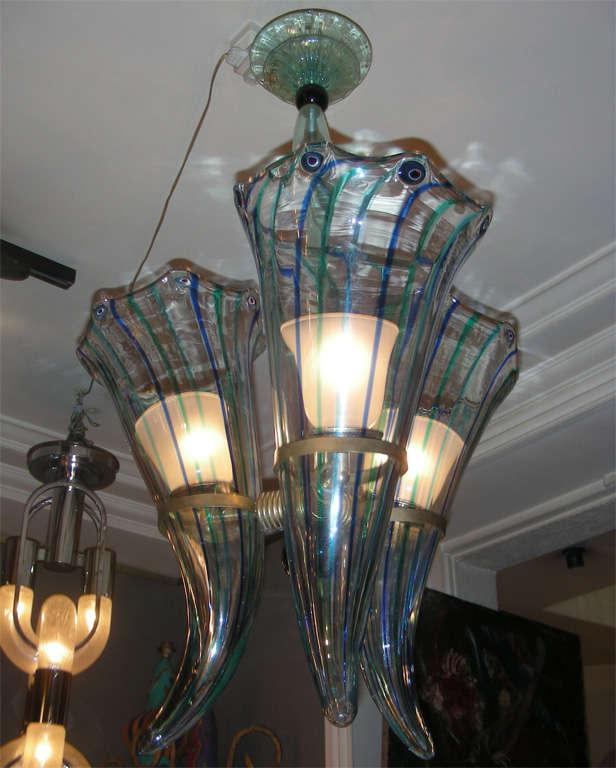 Mid-20th Century 1960s Italian Murano Glass Chandelier by Venini For Sale
