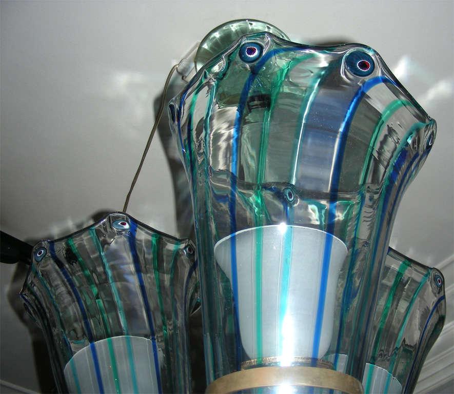1960s Italian Murano Glass Chandelier by Venini For Sale 4