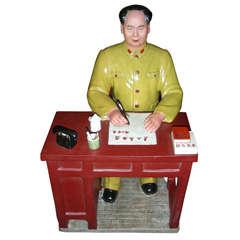 1960s Ceramic Statuette of Mao Tse Tung