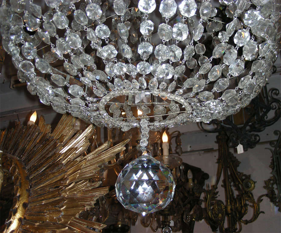 20th Century 1900s Crystal Chandelier For Sale