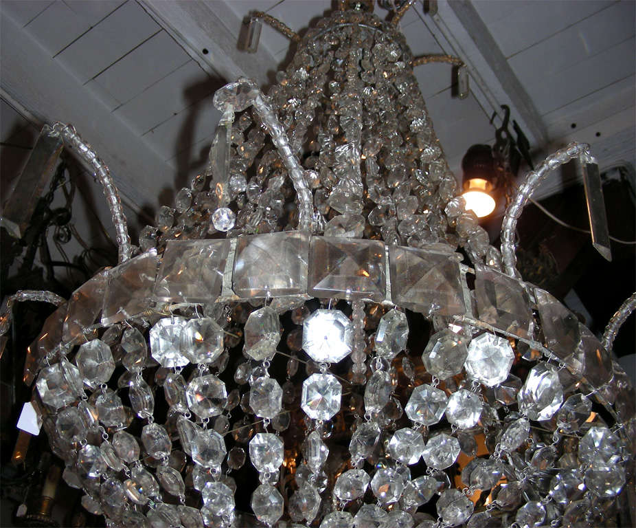 1900s Crystal Chandelier For Sale 1