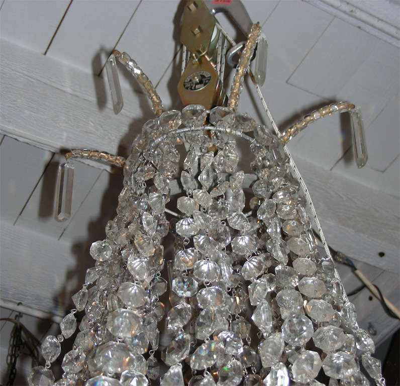 1900s Crystal Chandelier For Sale 2