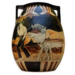 1930-1940 Stoneware Vase Signed by Ciboure