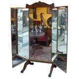 19th Century Cherrywood Floor Mirror by Brot