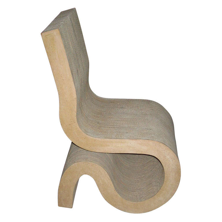 Circa 1972 Quot Wiggle Quot Chair By Frank O Gehry At 1stdibs