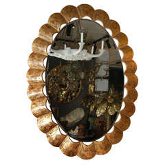 End of 20th Century Oval Mirror