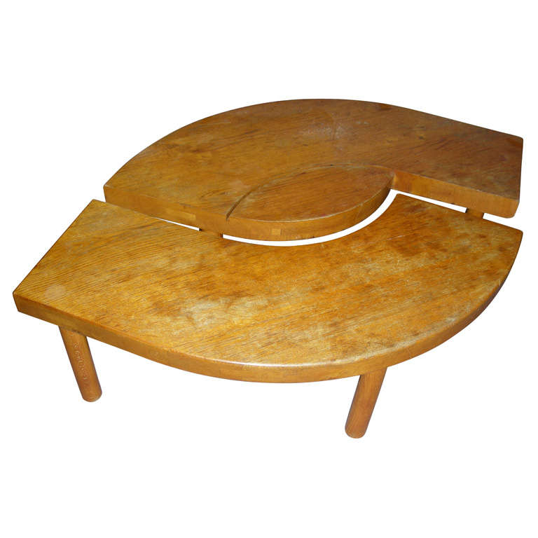 1950s two parts coffee table by pierre chapo at 1stdibs for Cocktail tables parts
